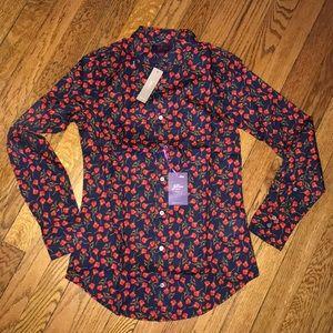 Brand NWT J Crew Liberty Print Oxford shirt